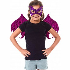 Pink / Purple Dragon Wings & Mask Set