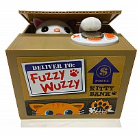 Fuzzy Wuzzy Animatronic Kitty Bank