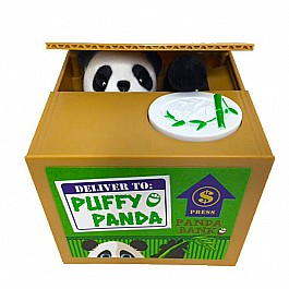 Puffy Pand Motorized Animatronic Panda Bank