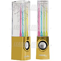 Leading Edge Water Dancing Speakers - Gold Chrome