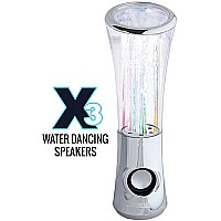 Leading Edge X3 Water Dancing Speakers - Chrome