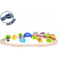 "Wooden Toy Train ""My Zoo"""