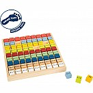 Colorful Multiplication Table Board
