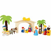 Wooden Manger Set