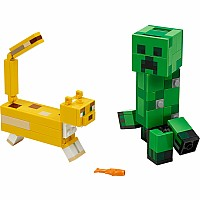 Lego Minecraft Bigfig Creeper And Ocelot
