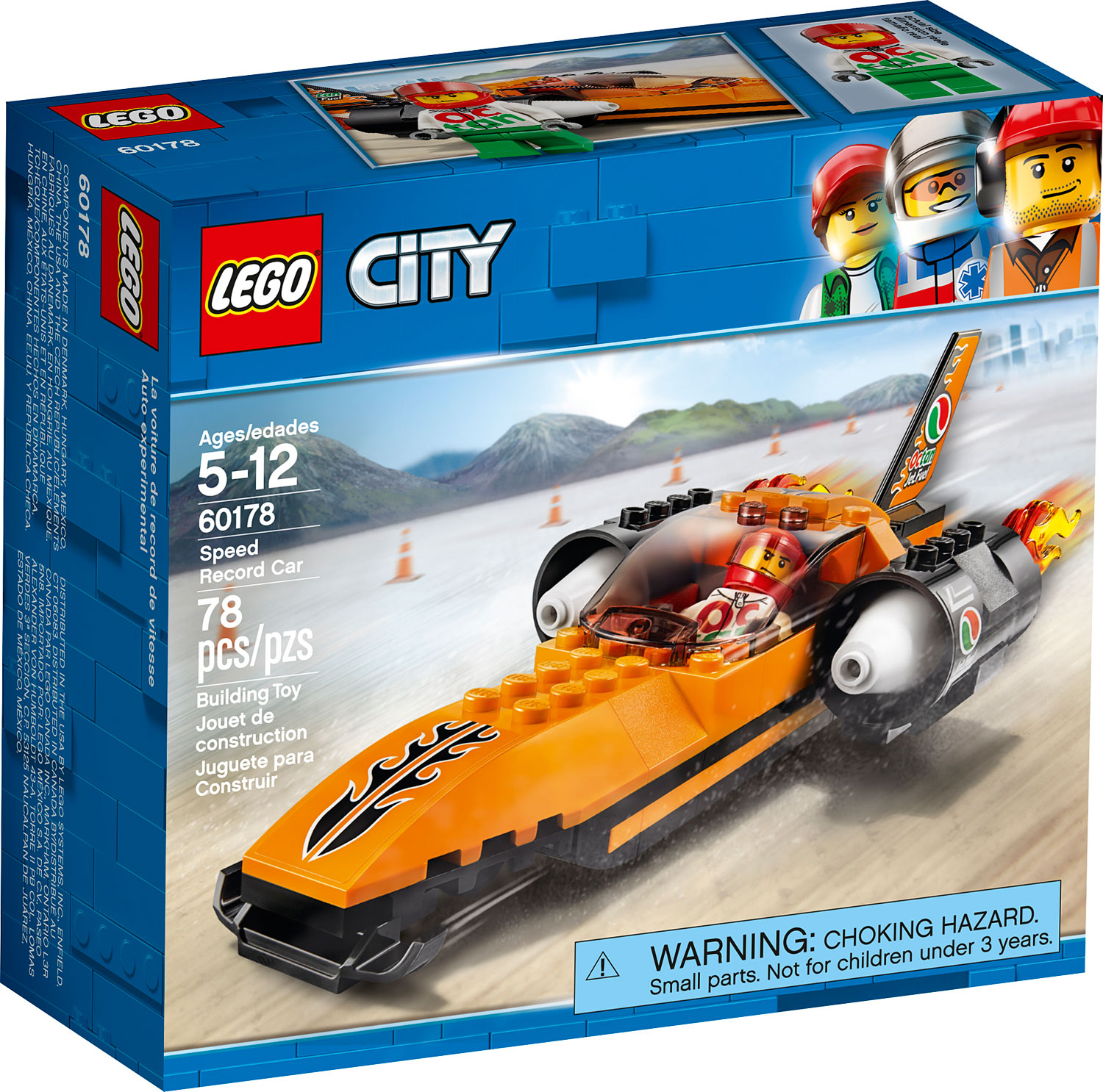 City Great Vehicles Speed Record Car Grand Rabbits Toys In