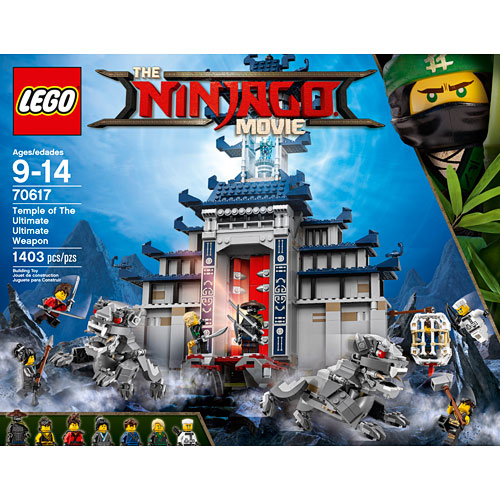 Lego Movie Toys : Lego ninjago movie temple of the ulitmate ultimate weapon