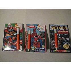 Marvel Heros: Justice for all 2in1 Invisible Ink and Sticker Puzzle Book
