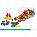 Plastic Pattern Blocks, Set of 250
