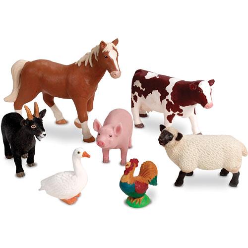 Jumbo Farm Animals Figurines From, Farm Animal Figurines