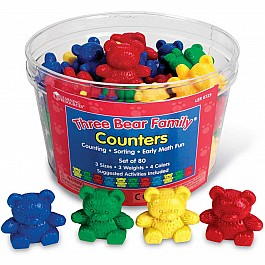 Three Bear Family Counters (80 Pcs)