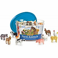 Farm Animal Counters - Set of 60
