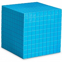 Blue Plastic Base Ten Cube