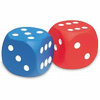 Giant Foam Dot Dice, Set of 2