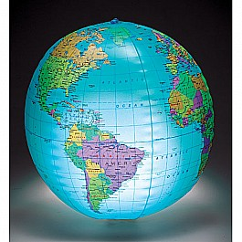 12in Inflatable Globe With Light