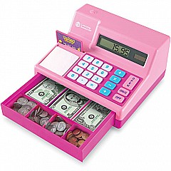 Pretend & Play Calculator Cash Register in Pink