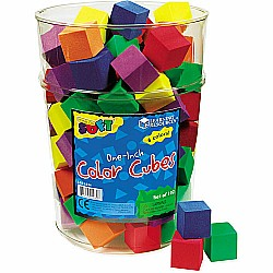 "1"" Soft Foam Color Cubes"