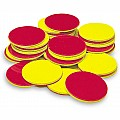 Two-Color Counters, Yellow and Red, Set of 200