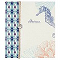 C.R. Gibson Refillable Address Book, Coral Reef (A1-12583)