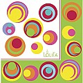 C.R. Gibson Lolita 20 Count Lunch Napkins, Fish Eyes, White