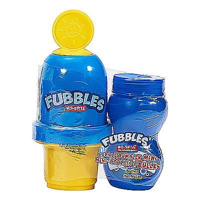 Little Kids Fubbles No-Spill Bubble Tumbler Minis Party Pack, 12-Pack 2 Fl.  Oz.