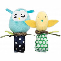 Bitty Birds Wrist Rattle Set