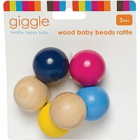 Giggle Wood Baby Beads Rattle