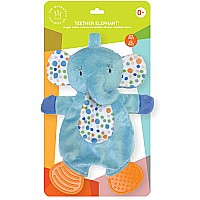 Teether Elephant Snuggle Blankie