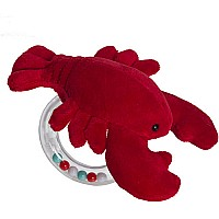 Lobbie Lobster Ring Rattle-6""