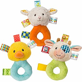 Taggies Barnyard Rattle-5""