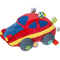 Taggies Wheelies Sports Car Soft Toy - 10""