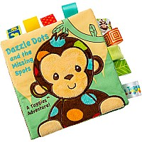 Taggies Dazzle Dots Monkey Soft Book-6x6""