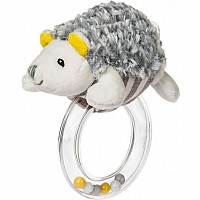 Sunshine Hedgehog Ring Rattle - 5""