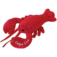 "Lobbie Lobster (small) with ""Cape Cod"" Embroidery - 10"""