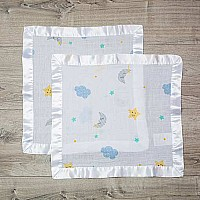 Dreamland Muslin Cotton Security Blankets - 2 pack - 16x16""
