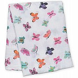 Muslin Cotton Swaddle Blanket - Butterflies