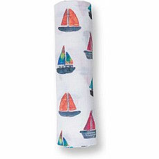 Lulujo Sailboat Cotton Swaddle
