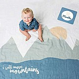 "Baby's First Year Blanket & Cards Set - ""I Will Move Mountains"""