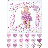"Lulujo ""With Brave Wings"" Baby's First Year DELUXE Blanket & Cards Set"