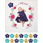 "Lulujo ""Stay Wild My Child"" Baby's First Year Blankets & Cards Set"