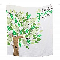 "Lulujo ""Here I Grow Again"" Baby's First Year DELUXE Blanket & Cards Set"