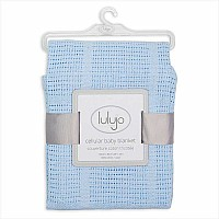Lulujo Blue Cellular Blanket - 39x31""
