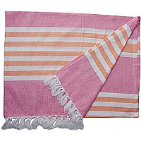 LLJ Turkish Towel - Passion Pink & Apricot