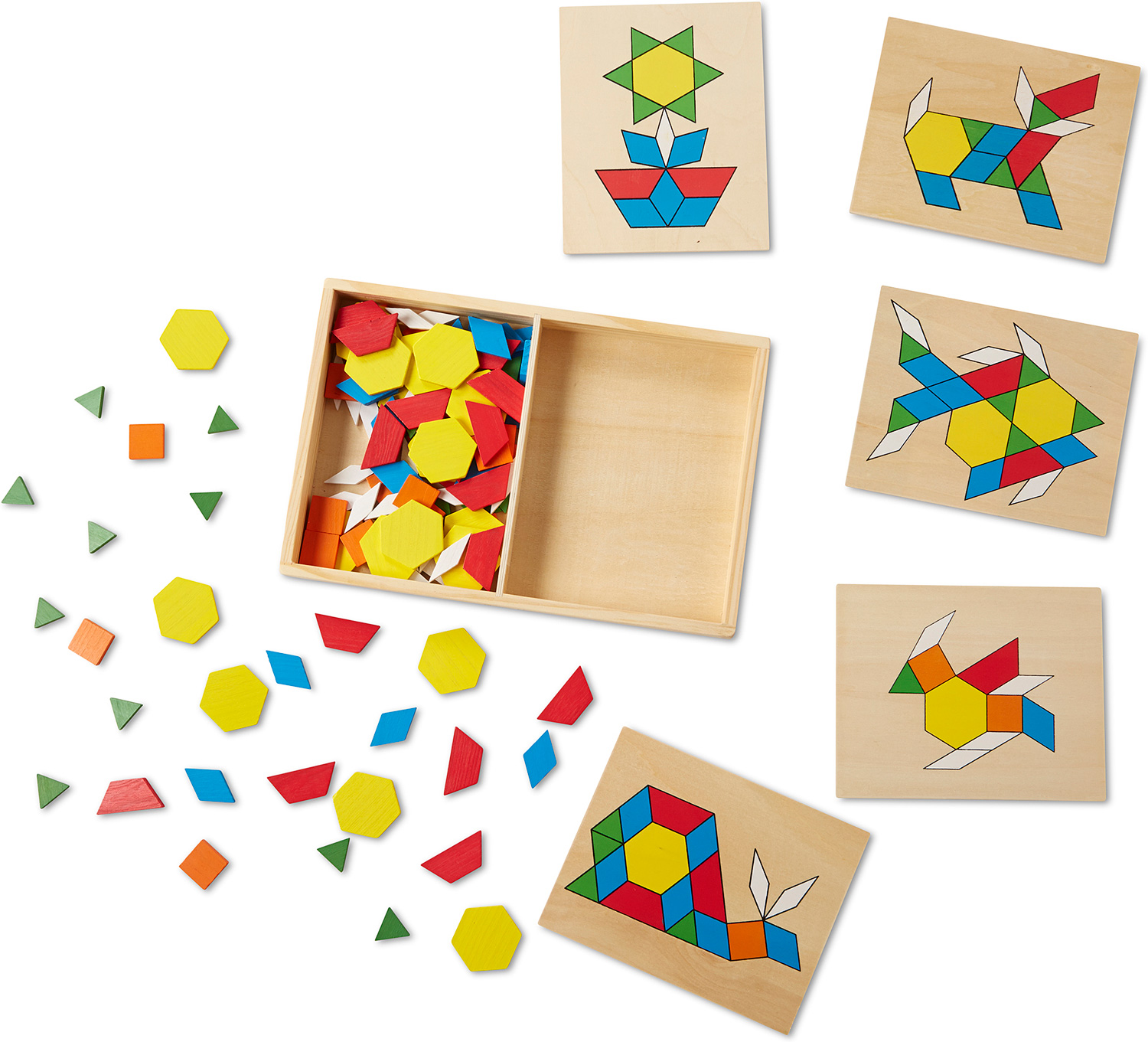 Pattern Blocks And Boards Kidoodles Toy Zone