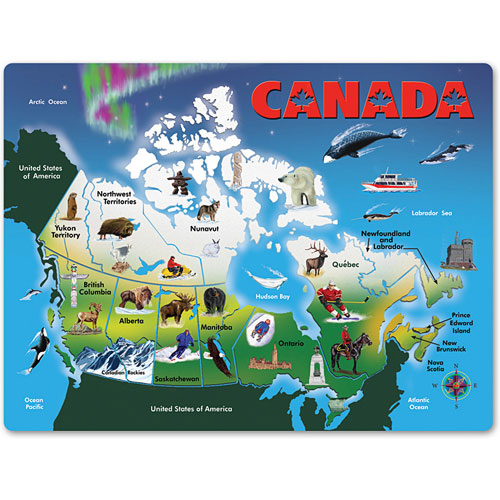 Map Of Canada Kids.Canada Map 4 Kids Books Toys