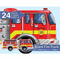 Giant Fire Truck Floor (24 pc) by Melissa & Doug