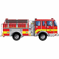 Giant Fire Truck Floor Puzzle (24 pc)