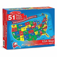 U.S. Map Floor 51 pc