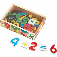 Magnetic Wooden Numbers In Box