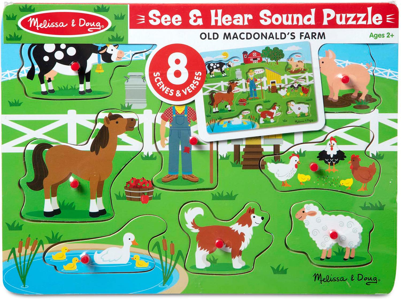 Old MacDonalds Farm Sound Puzzle - Piccolo Mondo Toys